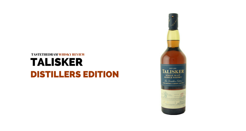 Talisker 12 year single malt scotch distillers edition wine globe.